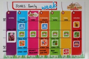 Monkey&Chops WAP_family week planner
